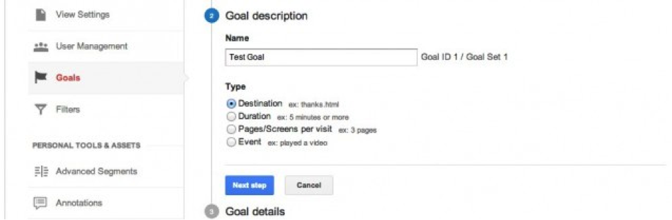 1 How to Use URL Destination Goals to Improve SEO