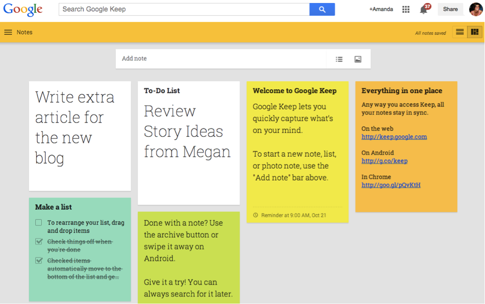 google-keep Google Tools You Never Knew Existed