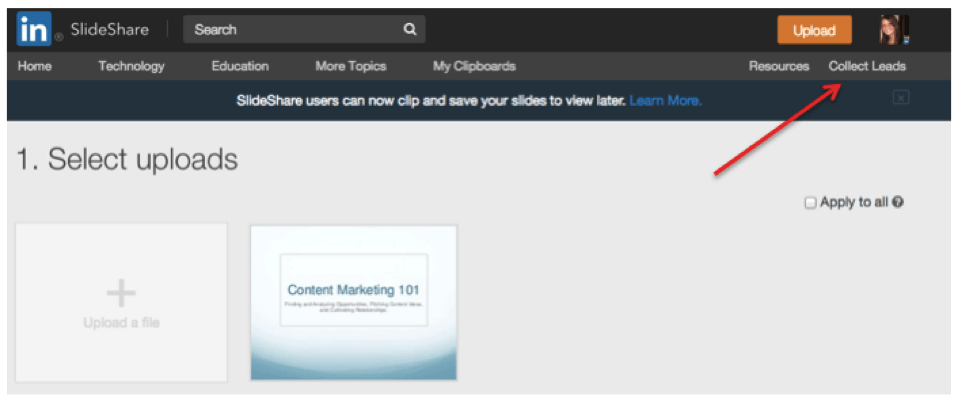 how to get started with lead generation on slideshare