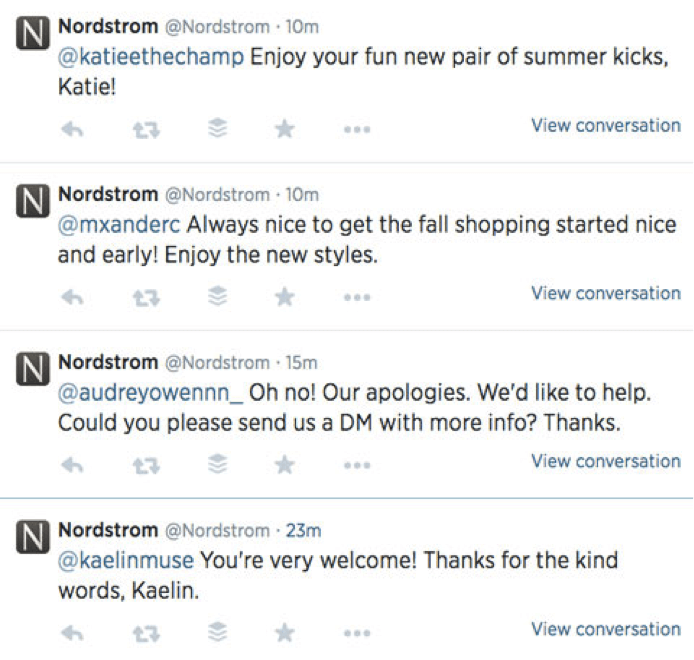 nordstrom Using Social Media to Improve Your Customer Service