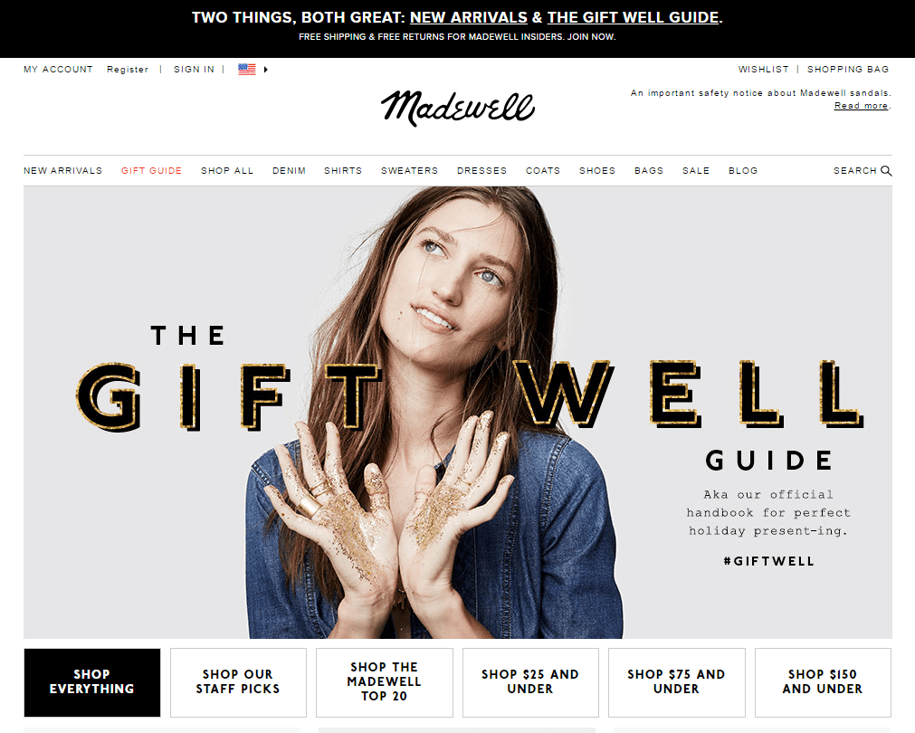 Madewell 4 Steps to Prepare for Cyber Monday Shoppers