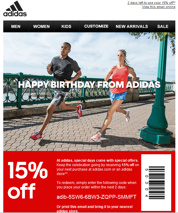 bday_adidas 6 Email Marketing Tips for Holiday Season