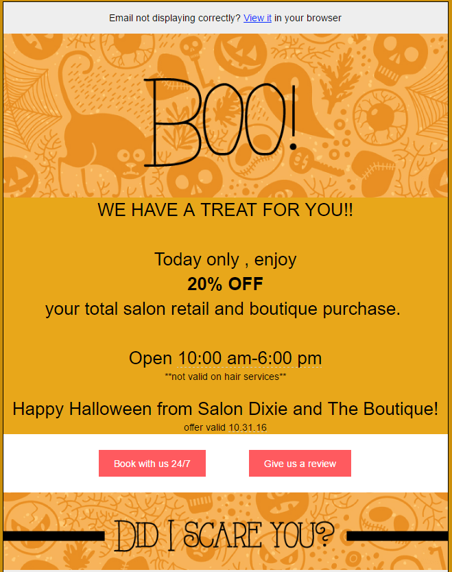 flashsale_salondixie 6 Email Marketing Tips for Holiday Season