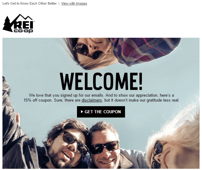 welcome_REI 6 Email Marketing Tips for Holiday Season