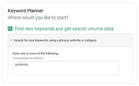 keyword planner guide