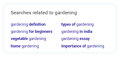 Searches related to gardening